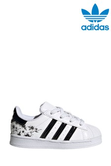 Белые кроссовки для малышей с принтом adidas Originals Superstar