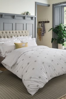 Sophie Allport Elephant Cotton Duvet Cover and Pillowcase Set