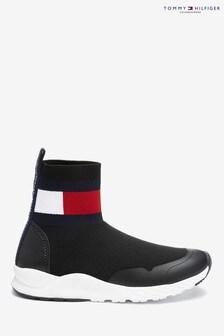 Tommy Hilfiger Black Flag Sock Trainers