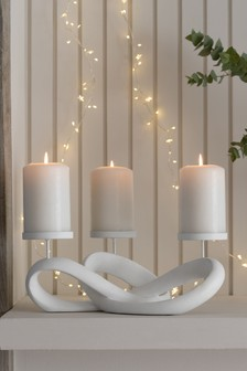 Abstract Pillar Candle Holder