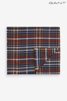 GANT Mens Blue Winter Madras Scarf