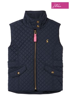 Joules Blue Jilly Quilted Gilet