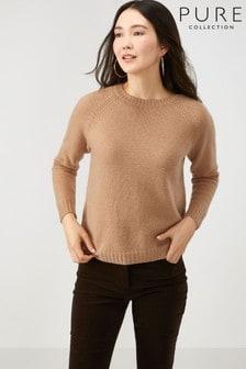 סוודר קשמיר שלPureCollection דגם Lofty בצבע חום