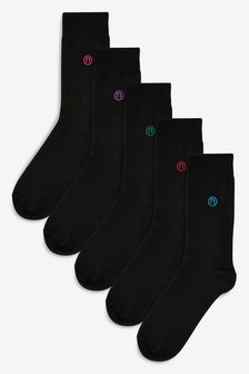 Pack de cinco pares de calcetines de color con logo N