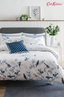 Cath Kidston® British Birds Cotton Duvet Cover and Pillowcase Set