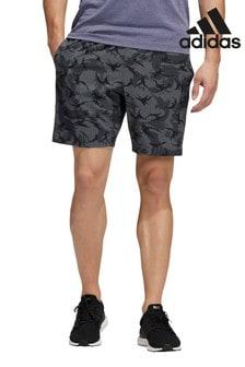 adidas Shorts mit Camouflage-Muster, Grau