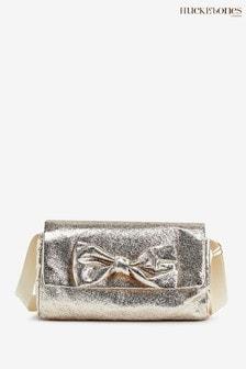Hucklebones Platinum Bow Cross Body Bag