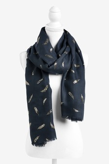 Feather Foil Lightweight Scarf