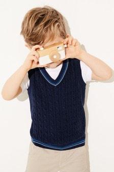 Топ узорной вязки и футболка (комплект) (3 мес.-7 лет)