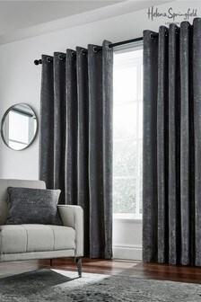 Helena Springfield Gunmetal Roma Eyelet Curtains