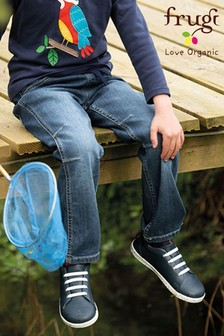 Frugi Organic Cotton Concave Soft Waist Pull-Up Jeans
