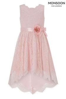 Monsoon Becky Pink High Low Dress
