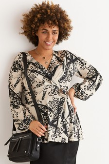 Блузка с пряжкой для беременных