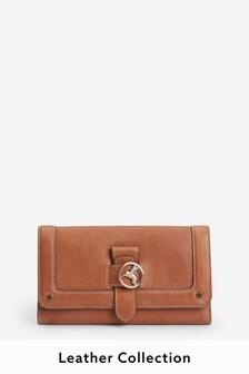 Кожаный кошелек с колибри