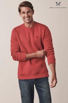 Crew Clothing Red Baddesley Crew Sweatshirt