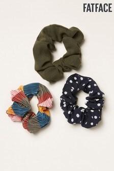 FatFace Blue Scrunchies Three Pack