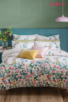 Cath Kidston® Twilight Garden set van katoenen dekbedovertrek en kussensloop met bloemenprint