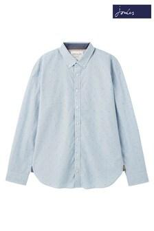 Joules Blue Coleridge Classic Fit Dobby Shirt