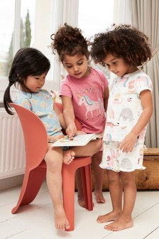 3 Pack Unicorn/Rainbow Short Pyjamas (9mths-8yrs)