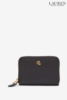 Ralph Lauren Black Compact Leather Purse