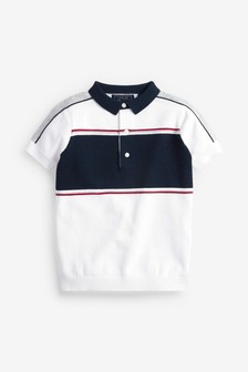Colourblock Knitted Polo (3-16yrs)
