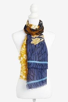 花卉圖案輕盈圍巾