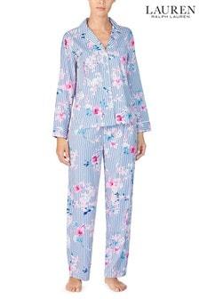 Set pijama Lauren RalphLauren® din satin cu model floral