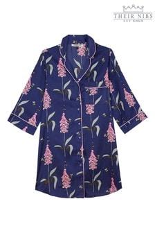 قميص نوم ستان طباعة بأزرارFoxglove منTheir Nibs