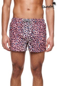 Boardies Leopard Short Length Swim Shorts