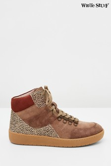 White Stuff Brown Harriet High Top Trainers
