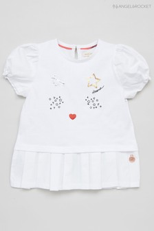 Angel & Rocket White Face Top