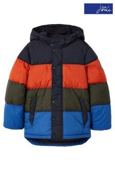 Joules Blue Newbold Colourblock Padded Jacket