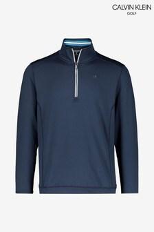 Calvin Klein ゴルフ ブルー Orbit ハーフジップセーター