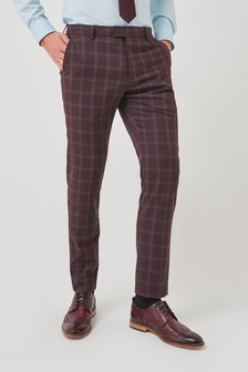 Trimmed Check Suit: Trousers