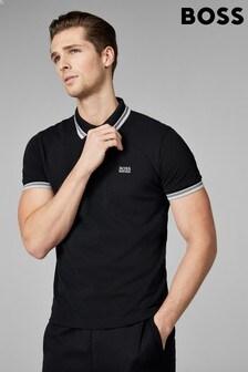 חולצת פולו עם גימור בשוליים של Boss, מדגם Paddy