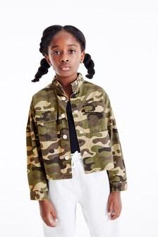 Куртка с рюшами на воротнике  (3-16 лет)