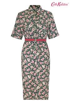 Cath Kidston® Green Dusk Floral Utility Pocket Shirt Dress