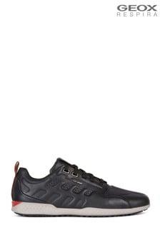 Черные мужские кроссовки с отделкой под змеиную кожу Geox