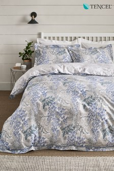 TENCEL™ Reversible Japandi Floral Duvet Cover And Pillowcase Set