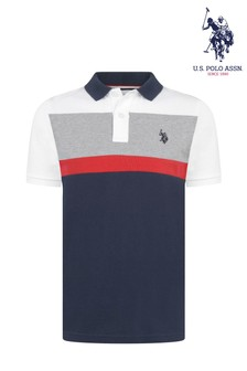 U.S. Polo Assn. Poloshirt in Blockfarben