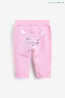 Benetton Pink Bear Joggers