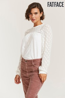 FatFace Natural Charlotte Floral Top