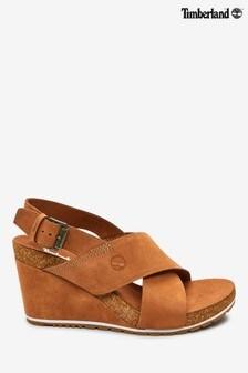 Pantofi cu talpă ortopedică și barete încrucișate Timberland® Capris Sunset bronz