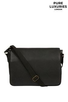 Pure Luxuries London Sanderson Leather Messenger Bag