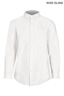River Island White Button Down Collar Shirt