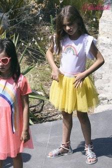 Billieblush White/Yellow Rainbow Skater Dress