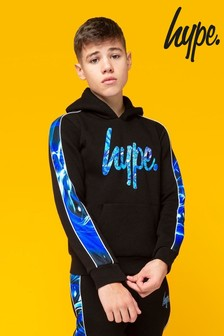 Hype. Spiral Abstract Panelled Hoody