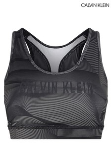 חזיית ספורט עם תמיכה בינונית של Calvin Klein בשחור