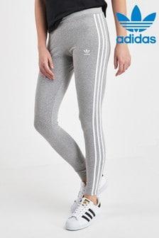 Sivé legíny s 3 pásikmi adidas Originals