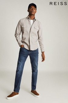 Reiss Samsun錐形修身剪裁牛仔褲